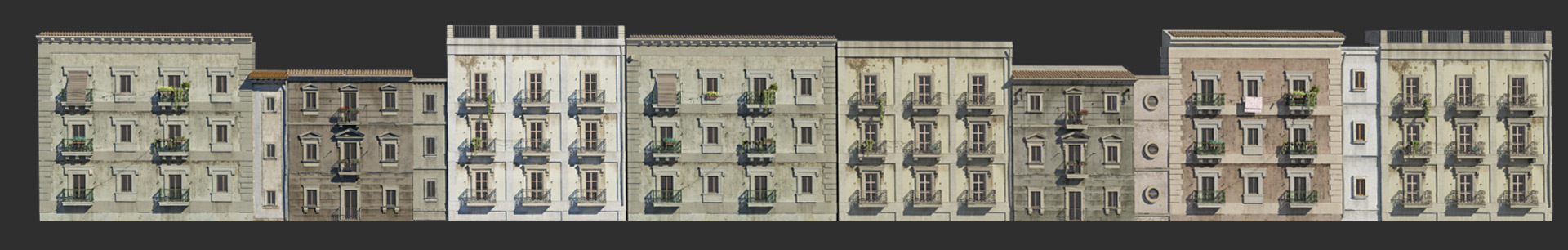 Catania buildings reproduced